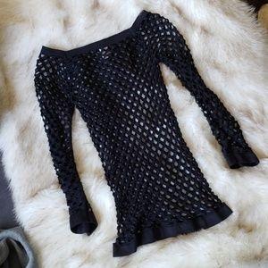Tops - Fishnet Long Sleeve 0053